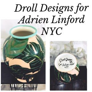 Droll Designs For Adrien Linford NYC Vase